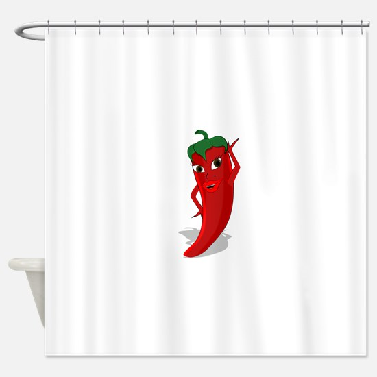 Chili Diva Shower Curtain