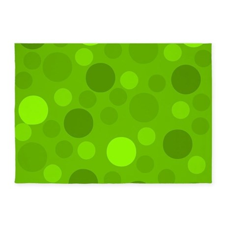 Green Lime Green Light Dark Modern 5u0027x7u0027Area Rug