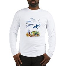 Sharks on Reef Long Sleeve T-Shirt