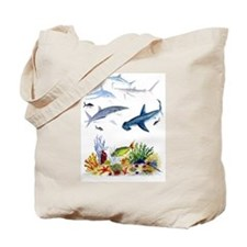 Sharks on Reef Tote Bag