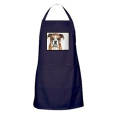 Aimie the resilient roller-dog boxer Apron (dark)