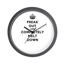 Freak Out and Completely Melt Down Wall Clock