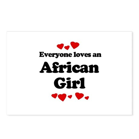 Everyone loves an African girl Postcards (Package