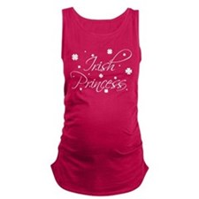 Irish Princess Shamrocks Maternity Tank Top