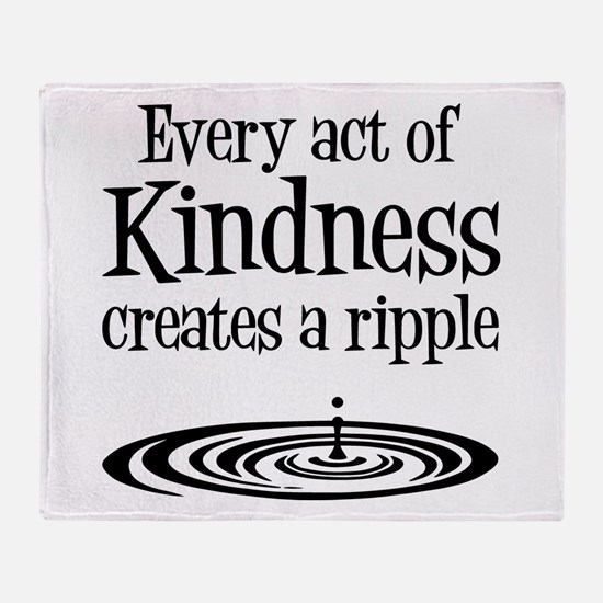 KINDNESS RIPPLE Throw Blanket