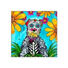 "Kasey the Schnauzer Square Sticker 3"" x 3"""