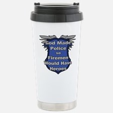 Funny Cop Stainless Steel Travel Mug
