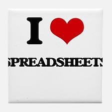 I love Spreadsheets Tile Coaster