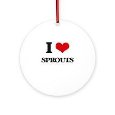 I love Sprouts Ornament (Round)