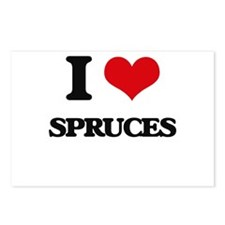 I love Spruces Postcards (Package of 8)