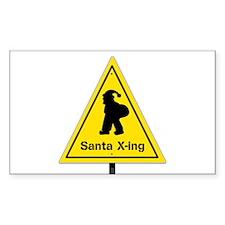 Santa X-ing Decal