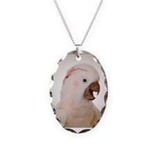 Moluccan cockatoo Necklace Oval Charm