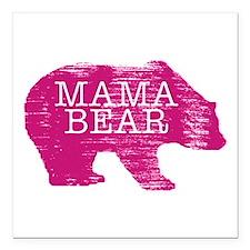 "MaMa Bear Square Car Magnet 3"" x 3"""