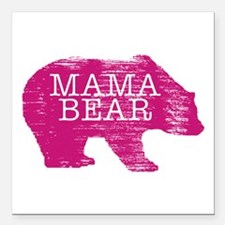 "MaMa Bear Square Car Magnet 3"" x 3"""