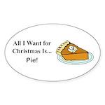 Christmas Pie Sticker (Oval 50 pk)