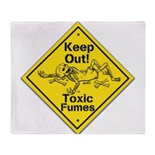 Toxic Fumes Throw Blanket