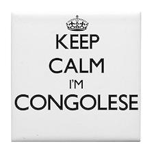Keep Calm I'm Congolese Tile Coaster