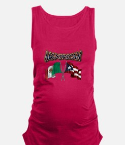MexiRican Flags centered Maternity Tank Top