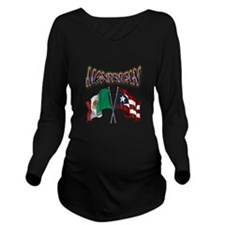 Mexirican_FF Long Sleeve Maternity T-Shirt