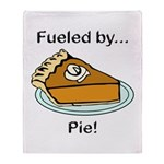 Fueled by Pie Throw Blanket