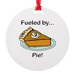 Fueled by Pie Round Ornament