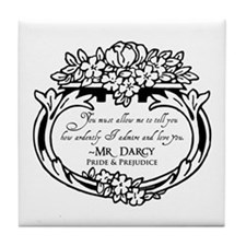 Mr Darcy Pride and Prejudice Tile Coaster