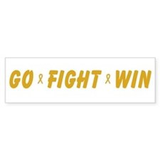Gold Go Fight Win Bumper Bumper Sticker