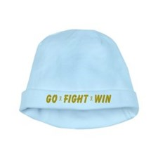 Gold Go Fight Win baby hat