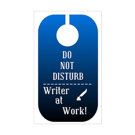 Writer At Work Rectangle Sticker
