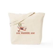 Run, Warren, Run! Tote Bag