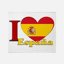 I love Espana - Spain Throw Blanket