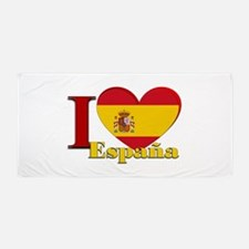 I love Espana - Spain Beach Towel