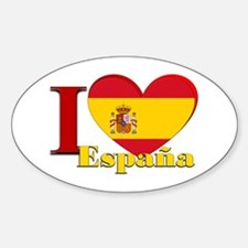 I love Espana - Spain Sticker (Oval)