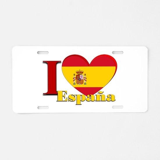 I love Espana - Spain Aluminum License Plate