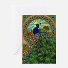 Art Nouveau Peacock Greeting Cards