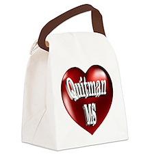 Quitman, MS Heart Canvas Lunch Bag