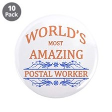 """Postal Worker 3.5"""" Button (10 pack)"""