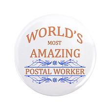 """Postal Worker 3.5"""" Button"""