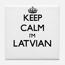 Keep Calm I'm Latvian Tile Coaster
