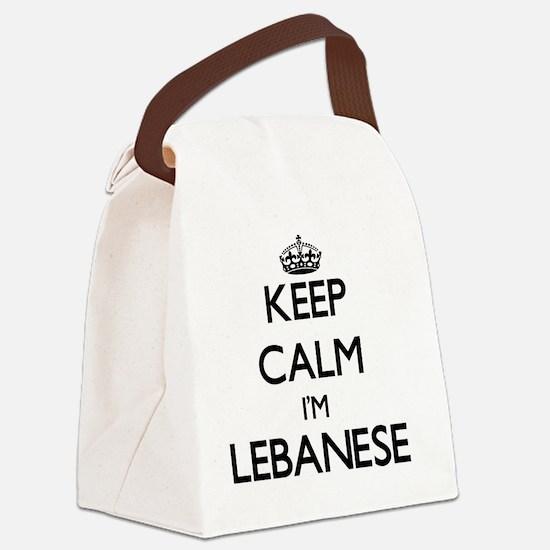 Keep Calm I'm Lebanese Canvas Lunch Bag