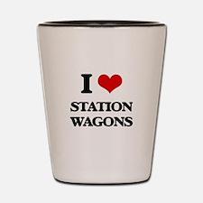 I love Station Wagons Shot Glass