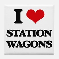 I love Station Wagons Tile Coaster