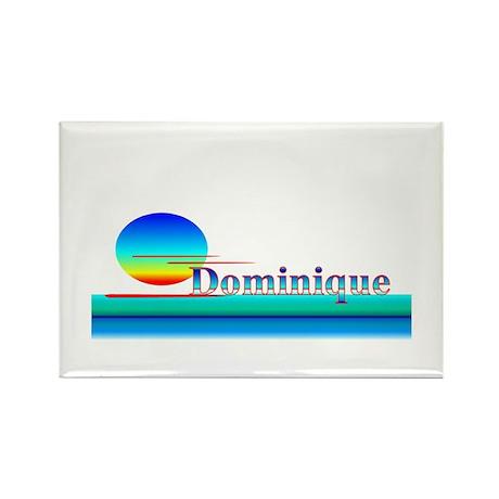 Dominique Rectangle Magnet
