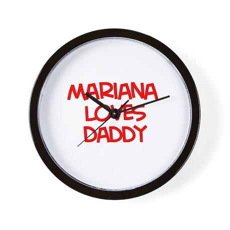 Mariana Loves Daddy Wall Clock