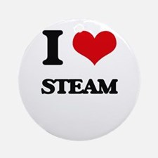 I love Steam Ornament (Round)
