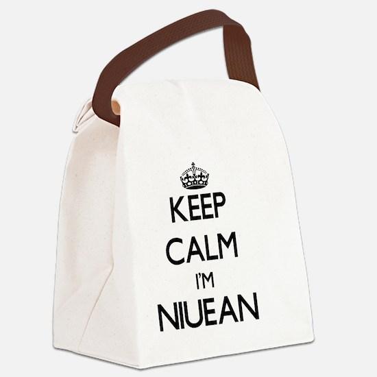 Keep Calm I'm Niuean Canvas Lunch Bag