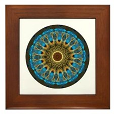 Cute Gold mandala Framed Tile