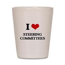 I love Steering Committees Shot Glass