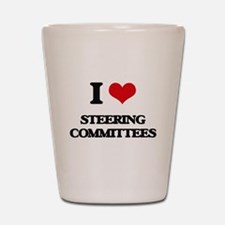 I love Steering Committees Shot Glass