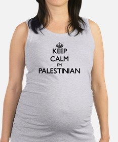 Keep Calm I'm Palestinian Maternity Tank Top